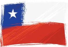 chile flaggagrunge royaltyfri illustrationer
