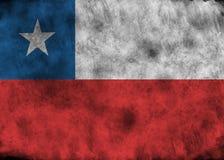 chile flaggagrunge Royaltyfri Fotografi