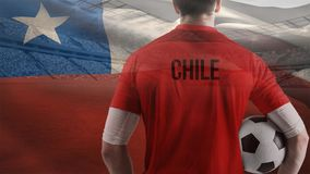 Chile-Flaggenvideo stock video footage