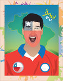 Chile-Fußballfan Lizenzfreies Stockbild