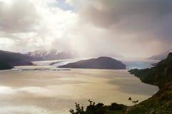 chile glaciärlake Royaltyfria Foton