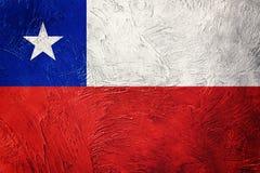 chile grunge bandery Chilijczyk flaga z grunge teksturą Obraz Royalty Free
