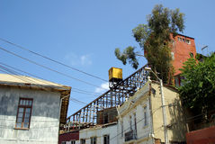 chile hissar gammala valparaiso Arkivbild