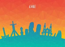 Chile Landmark Global Travel And Journey paper background. Vecto. R Design Template.used for your advertisement, book, banner, template, travel business or Stock Images