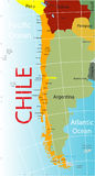 Chile map. Stock Photos