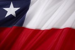 Chile-Markierungsfahne Lizenzfreies Stockfoto