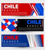 Chile modern banner template vector set design Royalty Free Stock Image