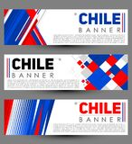 Chile modern banner template vector set design Royalty Free Stock Photo