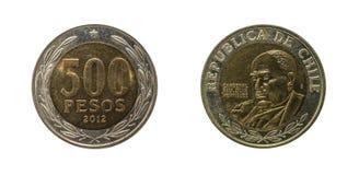 Chile moneta Zdjęcia Royalty Free