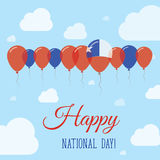 Chile National Day Flat Patriotic Poster. Royalty Free Stock Photo