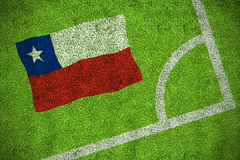 Chile national flag Stock Image