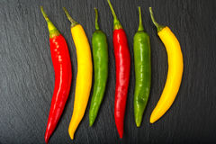Free Chile On A Black Stone Plate Royalty Free Stock Photography - 81911537