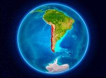Chile på jord Royaltyfria Bilder