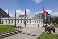 chile pałac De Los angeles Moneda Santiago Zdjęcia Royalty Free