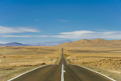Chile. Pan-American Highway. Road. Royalty Free Stock Photo