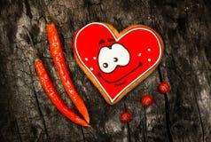 chile Poivrons de piment d'un rouge ardent et pain d'épice doux Images stock