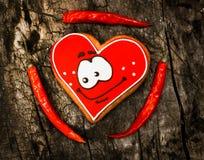 chile Poivrons de piment d'un rouge ardent et pain d'épice doux Photo libre de droits