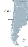 Chile political map Royalty Free Stock Photo