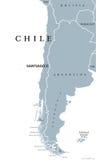 Chile politisk översikt vektor illustrationer