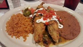 Chile Relleno. From Chuy's Royalty Free Stock Photos