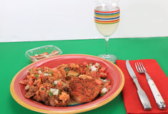 Chile Rellenos with Cocktail Stock Images