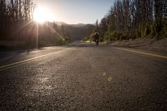 Chile road. Andes mountains chilenean road Royalty Free Stock Photo