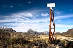 Chile rocznika grungy słup graniczny Zdjęcia Stock