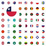 Chile round flag icon. Round World Flags Vector illustration Icons Set. Chile round flag icon. Round World Flags Vector illustration Icons Set Stock Photo