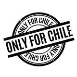 Only For Chile rubber stamp Stock Photography