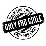 Only For Chile rubber stamp Royalty Free Stock Image