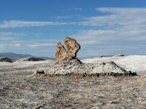 Chile San Pedro Atacama Desert Moon Valley Pacman Rock Sculpture. ! royalty free stock images