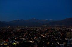 Chile Santiago de Chile, Cityscape Arkivfoto