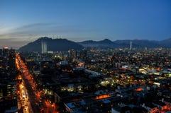 Chile Santiago de Chile, Cityscape Royaltyfri Fotografi