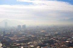 Chile Santiago de Chile, Cityscape Fotografering för Bildbyråer