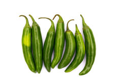 Chile Serrano hot chili pepper Royalty Free Stock Photo