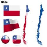 Chile set. Royalty Free Stock Image