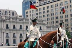 chile slott presidents- santiago Royaltyfri Foto