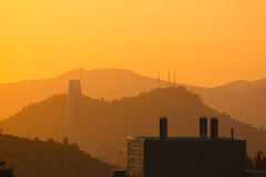 Chile - Sonnenuntergang Las Condes Lizenzfreie Stockfotografie