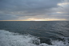 Chile. Sunset at Strait of Magellan Royalty Free Stock Photography