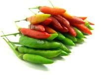 Chile tailandés rojo y verde Foto de archivo