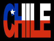 Chile text with flag Royalty Free Stock Photography