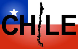 Chile text with map Royalty Free Stock Photography