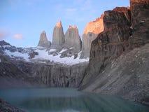 chile torres Del Paine fotografia stock