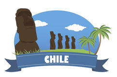 Chile. Tourism and travel. For you design Stock Image