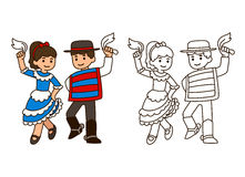 Chile Traditional dance Stock Images