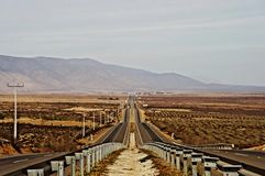 Chile travel road landscape Royalty Free Stock Images
