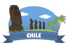 chile Turism och lopp royaltyfri illustrationer