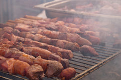 Chile - the typical anticuchos Stock Photography