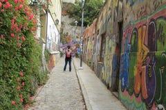 chile ulicy Valparaiso Zdjęcia Stock