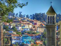 Chile Valparaiso City Church House Royalty Free Stock Images